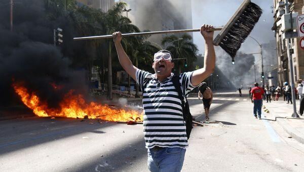 Protesty v Brazílii - Sputnik Česká republika
