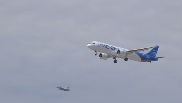 V Irkutsku poprvé vzlétl ruský stroj MS-21 - Sputnik Česká republika