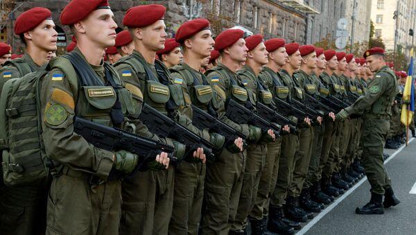Ukrajinští vojáci v Kyjevě - Sputnik Česká republika