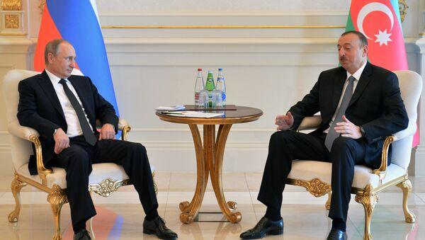 Vladimír Putin a Ilham Alijev - Sputnik Česká republika