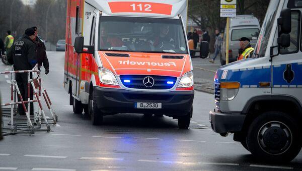 Sanitka a policie v Německu - Sputnik Česká republika