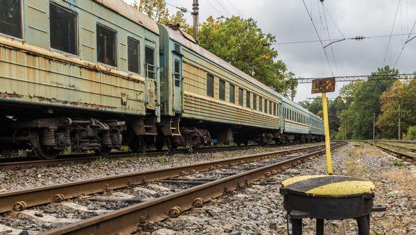 Starý vlak na Ukrajině. Ilustrační foto - Sputnik Česká republika