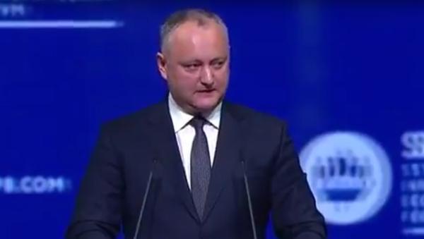 Projev prezidenta Moldavska Dodona na Petrohradském fóru. Celý projev česky - Sputnik Česká republika