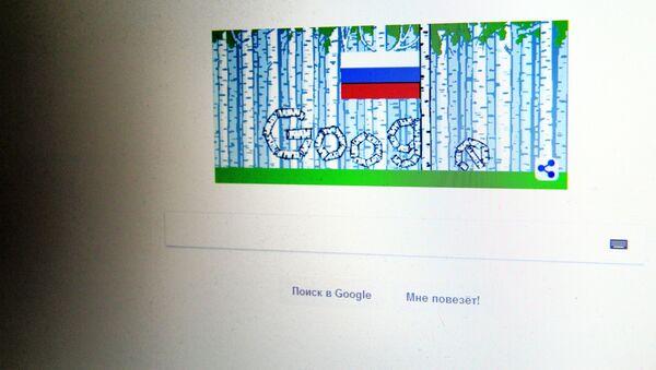 Snímek stránky Google v Den Ruska - Sputnik Česká republika