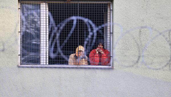 Migranti v Bělé-Jezové - Sputnik Česká republika