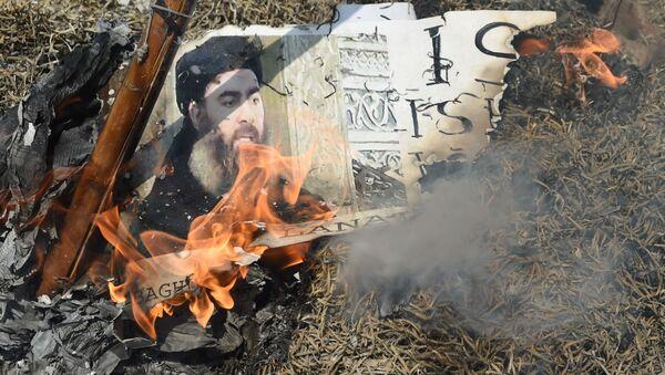 Foto vůdce IS Ibrahím Abú Bakr al-Bagdádí - Sputnik Česká republika