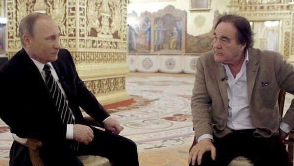 Vladimir Putin a Oliver Stone - Sputnik Česká republika