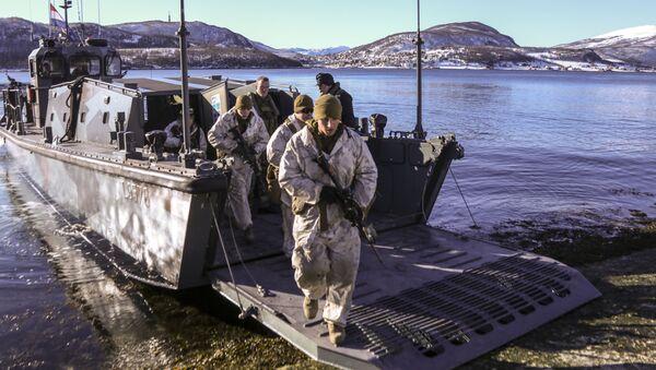 Námořní pěchota v Norsku - Sputnik Česká republika