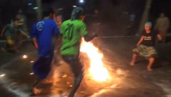 Ohnivý fotbal - Sputnik Česká republika
