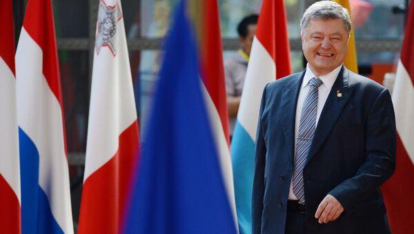 Ukrajinský prezident Petro Porošenko během schůzky Ukrajina-EU v Bruselu - Sputnik Česká republika