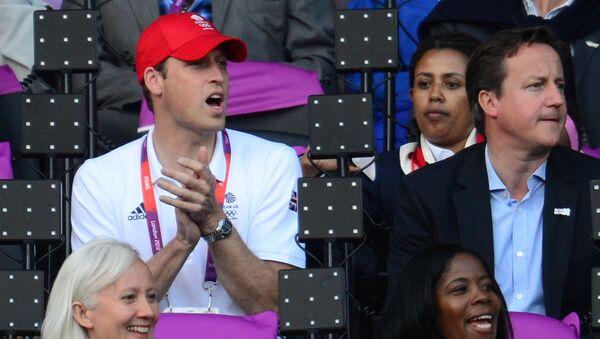 David Cameron, princ William a Catherine, vévodkyně z Cambridge - Sputnik Česká republika