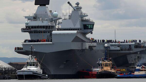 Britská letadlová loď Královna Alžběta. Ilustrační foto - Sputnik Česká republika