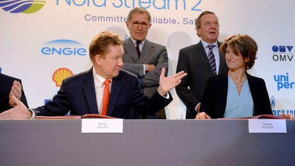 Podepsání smlouvy o financování Severního proudu 2 - Sputnik Česká republika