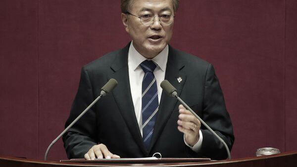 Prezident Korejské republiky Mun Če-in - Sputnik Česká republika