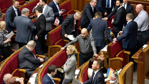 Poslanci na zasedání Nejvyšší Rady - Sputnik Česká republika