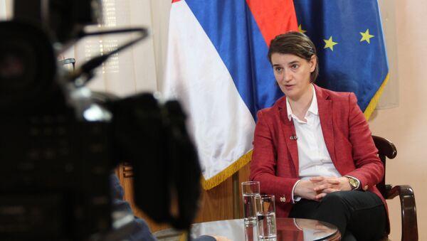 Srbská ministerská předsedkyně Ana Brnabičová - Sputnik Česká republika