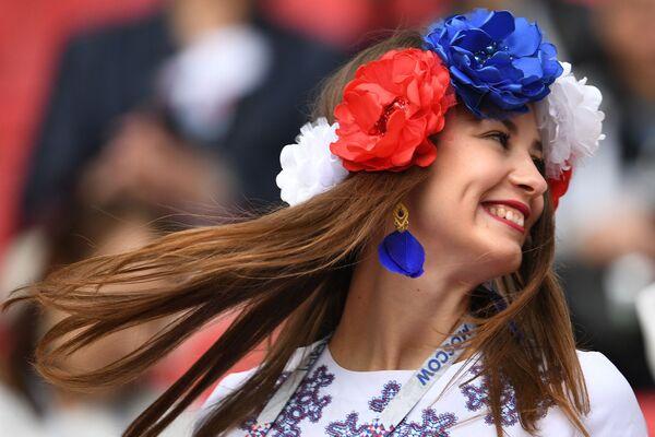 Fanoušky ruské reprezentace před zahájením utkání Konfederačního poháru 2017 ve fotbalu mezi týmy Mexika a Ruska - Sputnik Česká republika