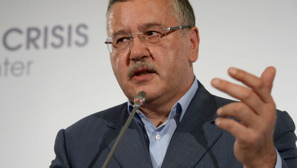 Bývalý ukrajinský ministr obrany Anatoliy Hrytsenko - Sputnik Česká republika