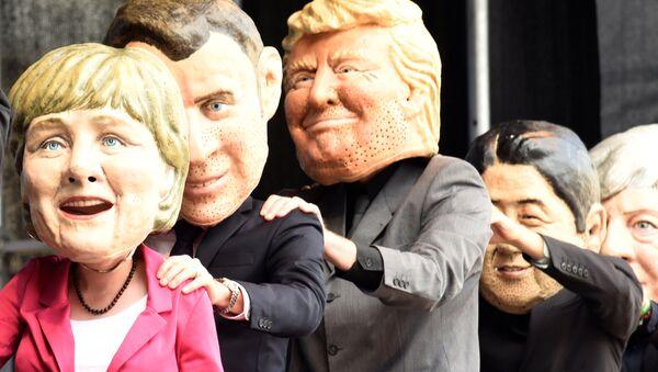 Protesty v Hamburku během summitu G20 - Sputnik Česká republika