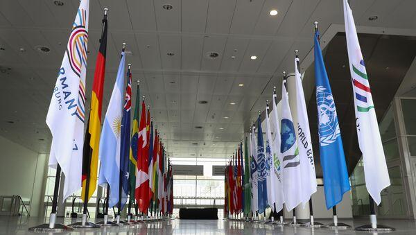 Vlajky zemí G20 v Hamburku - Sputnik Česká republika
