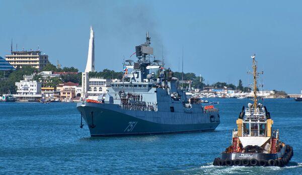 Fregata Admirál Essen po splnění bojových úkolů u syrských břehů - Sputnik Česká republika