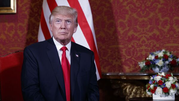 Americký prezident Donald Trump během návštěvy v Polsku - Sputnik Česká republika