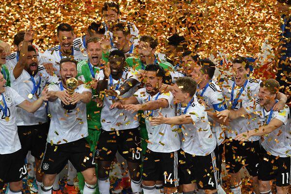 Hráči reprezentace Německa - vítězi Konfederačního poháru 2017 při slavnostním předávání cen - Sputnik Česká republika