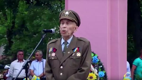 Ukrajinský nacionalista zemřel během projevu u pomníku Šuchevyčovi - Sputnik Česká republika