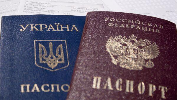 Ukrajinský a ruský pas. - Sputnik Česká republika