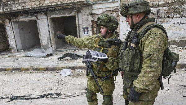 Ruští vojáci v Aleppu - Sputnik Česká republika