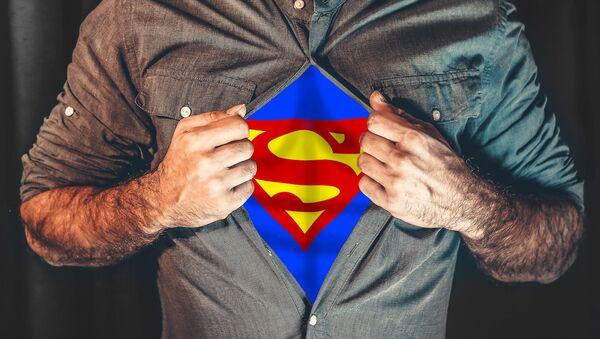 Muž v kostýmu Supermana - Sputnik Česká republika