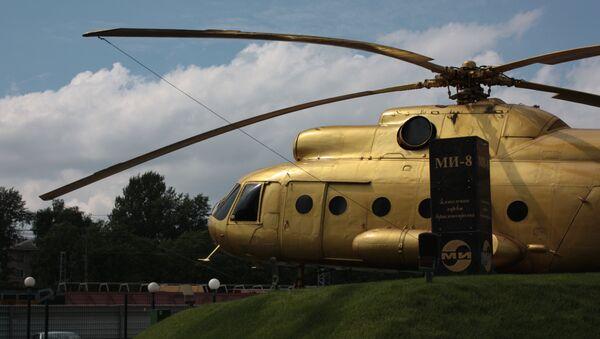 Zlatý Mi-8 na Moskevském vrtulníkový závodu Michaila Mila - Sputnik Česká republika