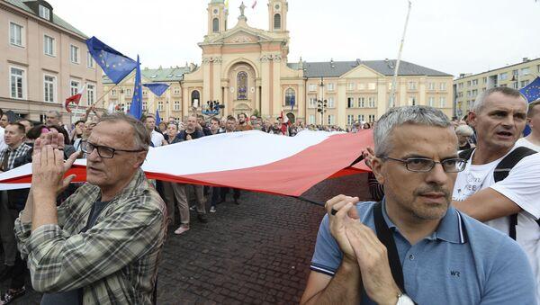 Protestní akce proti soudní reformě v Polsku - Sputnik Česká republika