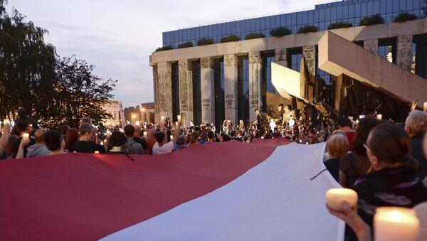 Protestní akce v Polsku - Sputnik Česká republika