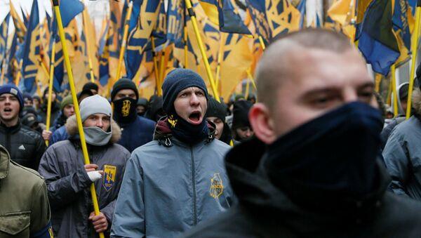 Ukrajinští nacionalisté. Ilustrační foto - Sputnik Česká republika