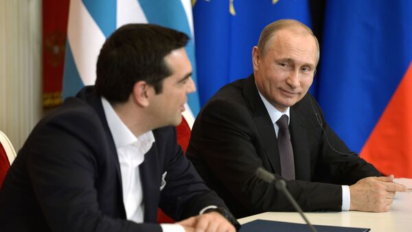 Vladimir Putin a Alexis Tsipras - Sputnik Česká republika