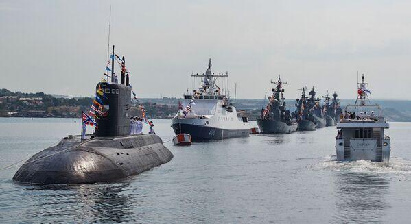 Generální zkouška lodní přehlídky ke Dni Vojenského námořnictva - Sputnik Česká republika