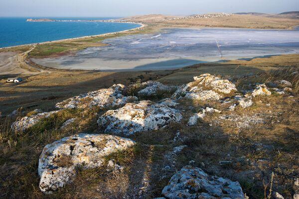 Jezero Čokrak: léčebné bahno na Krymu - Sputnik Česká republika