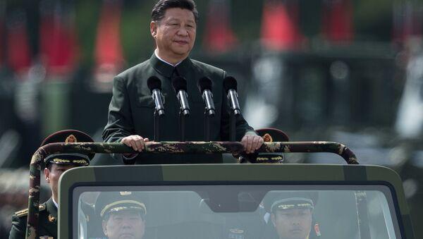 Si Ťin-pching na vojenské přehlídce - Sputnik Česká republika