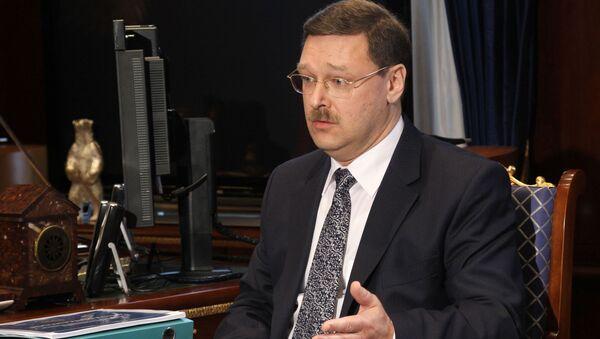 Předseda mezinárodního výboru Rady federace RF Konstantin Kosačev - Sputnik Česká republika
