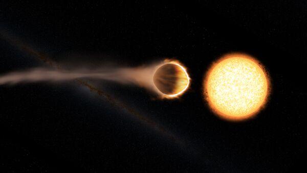 Umělec zobrazil planetu WASP-121b. Ilustrační foto - Sputnik Česká republika