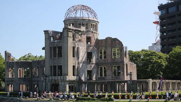 Vzpomínkový ceremoniál obětem jaderného bombardování v Hirošimě - Sputnik Česká republika