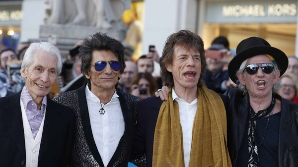 Skupina The Rolling Stones: Charlie Watts, Ronnie Wood, Mick Jagger and Keith Richards - Sputnik Česká republika
