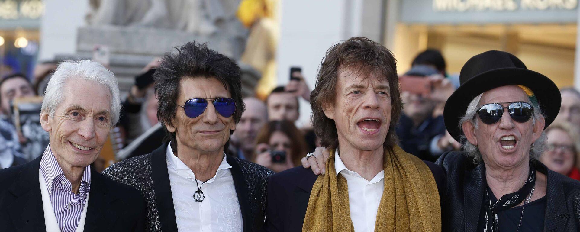 Skupina The Rolling Stones: Charlie Watts, Ronnie Wood, Mick Jagger and Keith Richards - Sputnik Česká republika, 1920, 24.08.2021
