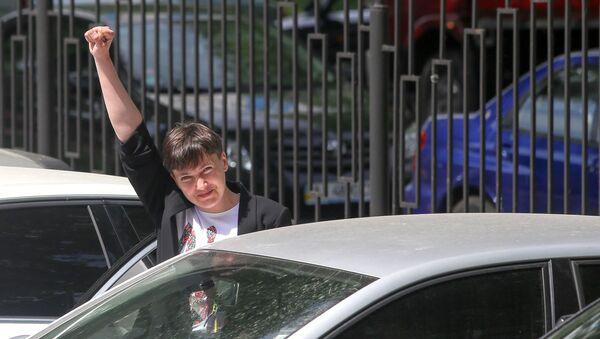Poslankyně ukrajinského parlamentu Naděžda Savčenková - Sputnik Česká republika