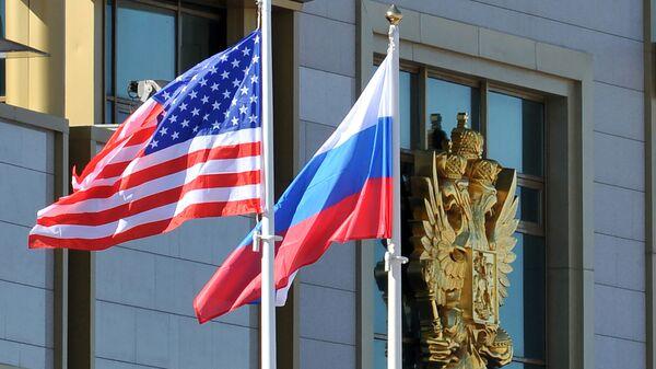 Ruská a americká vlajky - Sputnik Česká republika