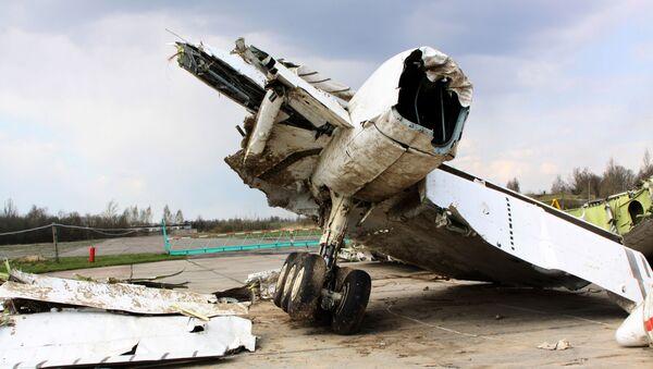 Trosky letounu Tu-154, který havaroval nedaleko Smolensku - Sputnik Česká republika