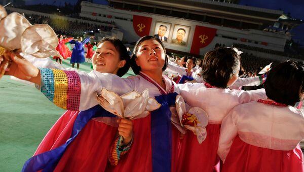 Přehlídka po sjezdu vládnoucí Korejské strany práce - Sputnik Česká republika