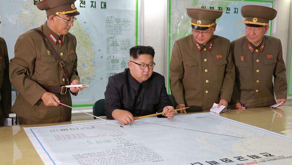 Severokorejský lídr Kim Čong-un - Sputnik Česká republika