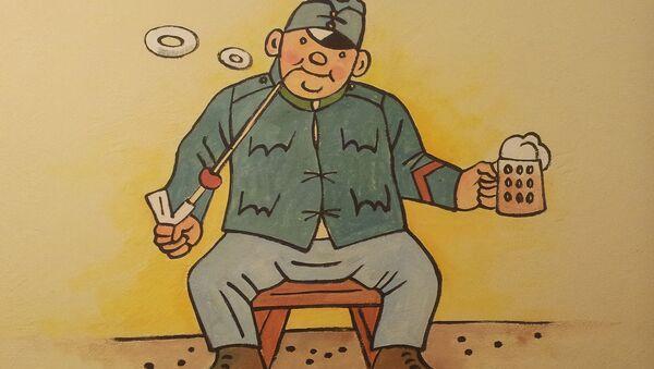 Osudy dobrého vojáka Švejka za světové války - graffiti v Praze - Sputnik Česká republika